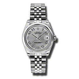 Rolex Datejust Steel Silver Concentric Arabic Dial 31mm Watch