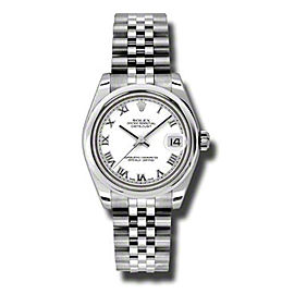 Rolex Datejust Steel White Roman Dial 31mm Watch