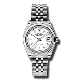 Rolex Datejust Steel White Stick Dial 31mm Watch