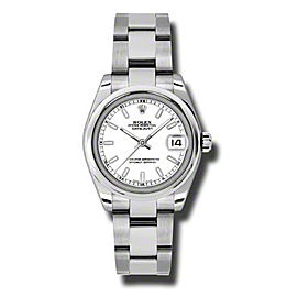Rolex Datejust Steel White Stick Dial 31mm Watch