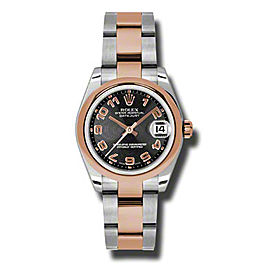 Rolex Datejust Steel and Rose Gold Black Concentric Arabic Dial 31mm Watch
