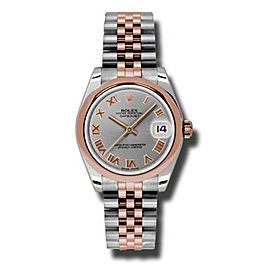 Rolex Datejust Steel and Rose Gold Grey Roman Dial 31mm Watch