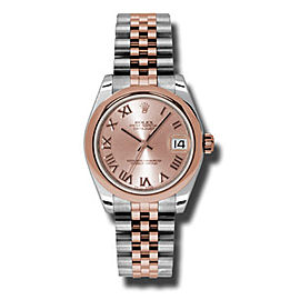 Rolex Datejust Steel and Rose Gold Pink Champagne Roman Dial 31mm Watch