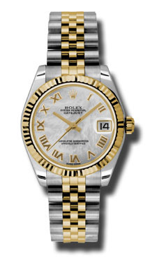 """Image of """"Rolex Datejust Steel and 18K Yellow Gold Mother of Pearl Roman Dial"""""""