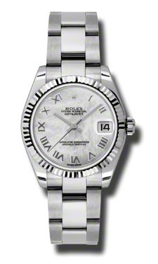 """Image of """"Rolex Datejust Steel and White Gold Meteorite Diamond Dial 31mm Watch"""""""