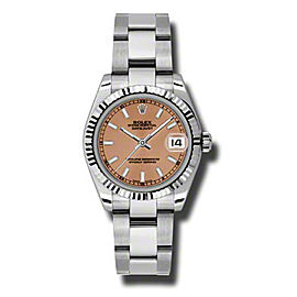 Rolex Datejust Steel and White Gold Rhodium Floral Dial 31mm Watch