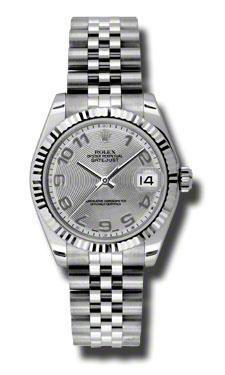 """Image of """"Rolex Datejust Steel and White Gold Silver Concentric Arabic Dial 31mm"""""""