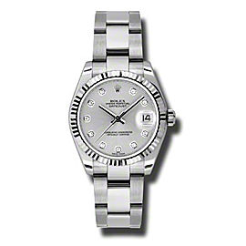 Rolex Datejust Steel and White Gold Silver Jubilee Diamond Dial 31mm Watch