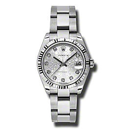 Rolex Datejust Steel and White Gold Silver Roman Dial 31mm Watch