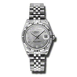 Rolex Datejust Steel and White Gold White Gold Mother of Pearl Arabic Dial 31mm Watch