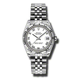 Rolex Datejust Steel and White Gold White Roman Dial 31mm Watch