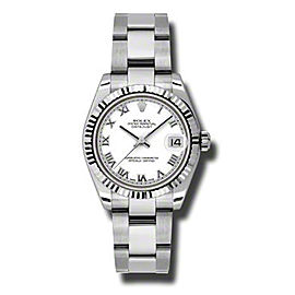 Rolex Datejust Steel and White Gold White Stick Dial 31mm Watch