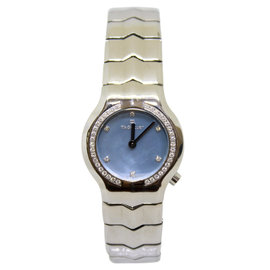 Tag Heuer Alter Ego Stainless Steel & Blue Diamond Dial 25mm Womens Watch