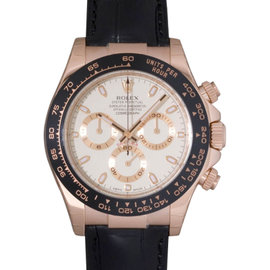 Rolex Daytona 116515 Rose Gold Ivory Dial Ceramic Mens Watch