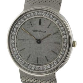 Jaeger LeCoultre 18K White Gold 30mm Unisex Watch