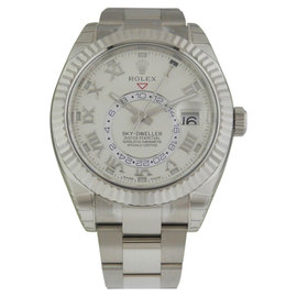 Rolex Sky Dweller 326939 Oyster Perpetual White Gold Brand Mens Watch