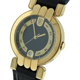 Harry Winston Premier 18K Yellow Gold Automatic with Date Unisex 34mm Watch