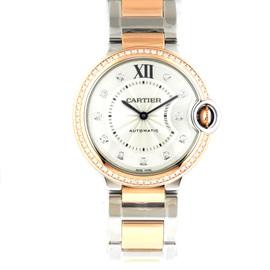 Cartier Ballon Bleu 36mm we902078 Stainless Steel & Rose Gold Watch