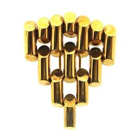 Tiffany & Co. Retro 14K Rose Gold Bullet Single Clip Brooch