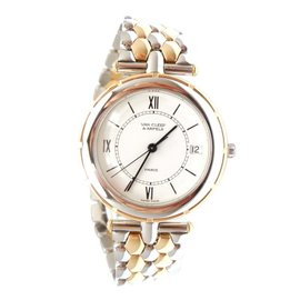 Van Cleef & Arpels Gold Stainless Steel Classique Watch