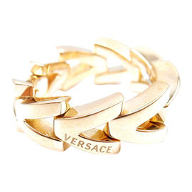 Versace 18K Yellow Gold V-Divine Band Ring