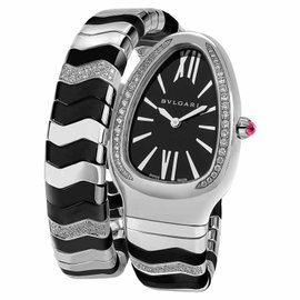 Bvlgari Bulgari Serpenti Spiga Black SP35BSDBCSD1.1T Diamond Watch