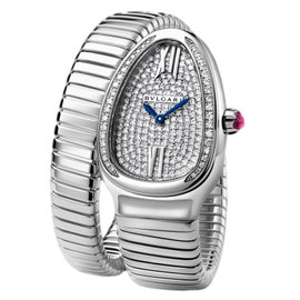 Bulgari Serpenti Tubogas spw35d2gdg.1t 18K White Gold Watch