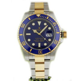 Rolex Submariner 116613 BLD Stainless Steel 18K Yellow Gold Blue Dial Watch