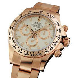 Rolex 116505 Cosmograph Everose Daytona Ivory Dial 18k Rose Gold Mens Watch