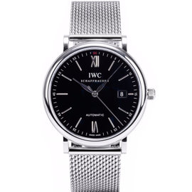 IWC IW356506 Portofino Stainless Steel Black Dial Watch