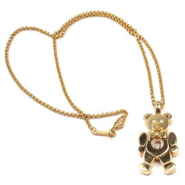 Chopard 18k Yellow Gold Diamond Happy Bear Pendant Necklace