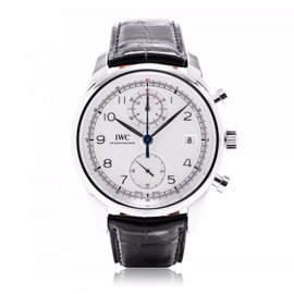IWC Portuguese Chronograph Classic 390403 Silver 42mm Watch