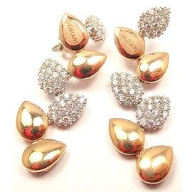 Damiani Antera Yellow/White Gold Diamond Earrings