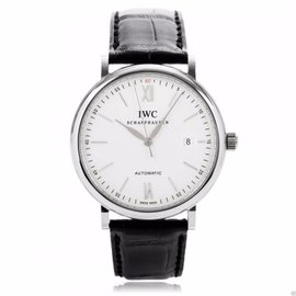 IWC Portofino Automatic IW356501 Steel Silver Dial Leather Watch