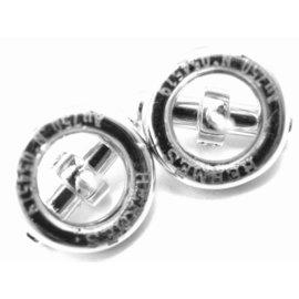 Hermes 18K White Gold Diamond Earrings
