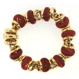 Pomellato 18k Yellow Gold & Cornelian Bracelet