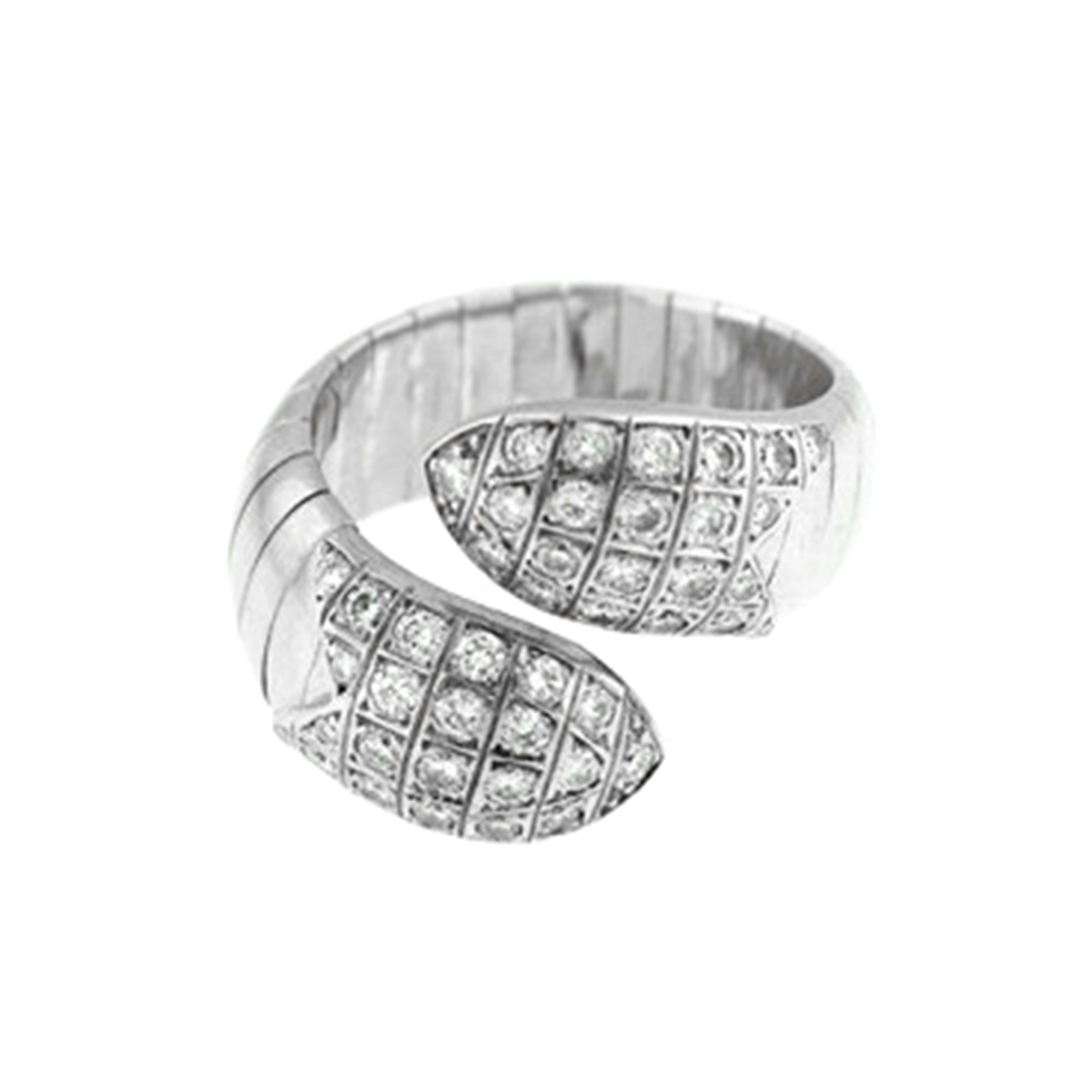 "Image of ""Chaumet 18k White Gold Flexible Diamonds Ring"""