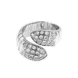Chaumet 18k White Gold Flexible Diamonds Ring