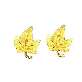 Tiffany & Co. 18K Yellow Gold Leaf Earrings