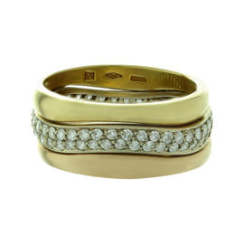 Cartier Love Me Diamond 18k Tri-Gold Stackable Ring