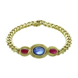 Bulgari Sapphire Ruby Gold Interchangeable Bracelet Necklace