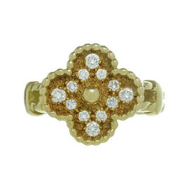Van Cleef & Arpels Alhambra Diamond 18k Gold Ring