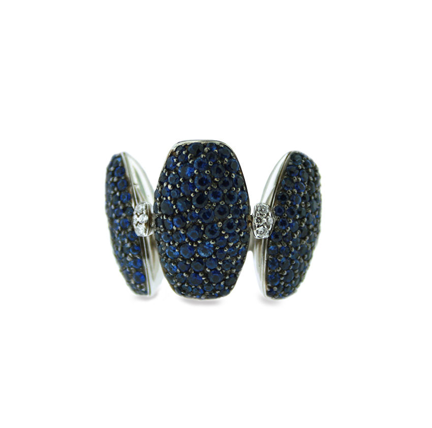 "Image of ""De Grisogono 18k White Gold Sapphire & Diamonds Ring"""