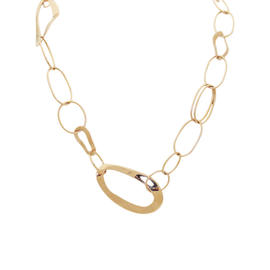 Ippolita 18K Rose Gold Long Oblong Links Sculptura Necklace