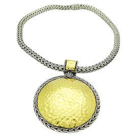 John Hardy Palu 925 Sterling Silver & 22K Yellow Gold Round Pendant Chain