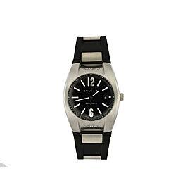 Bvlgari Bulgari EG 40 S Ergon Stainless Steel Black Automatic Date Watch