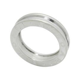 Bulgari 18K White Gold 1 Band Ring Size Small
