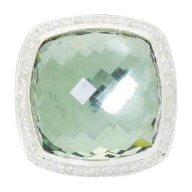 David Yurman Albion Sterling Silver Diamond & Prasiolite Ring