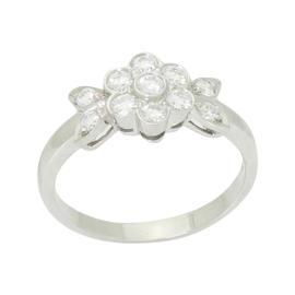 Tiffany & Co. Blossom Collection Platinum 950 Round Cut Diamond Flower Ring