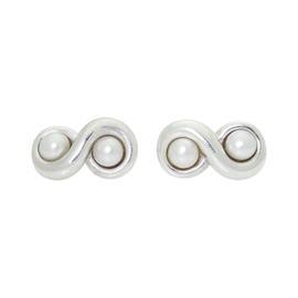 Tiffany & Co. Sterling Silver & Freshwater Pearl Infinity Earrings